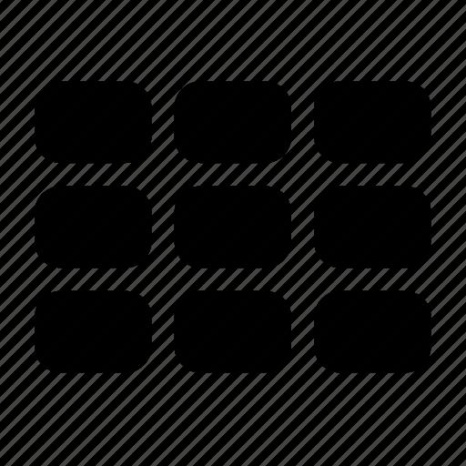 categories, matrix icon