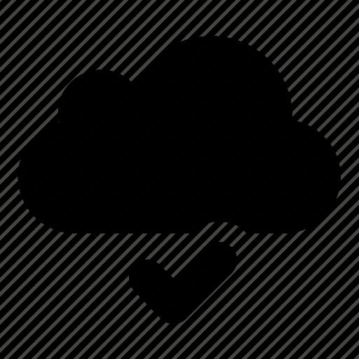 cloud, ok icon