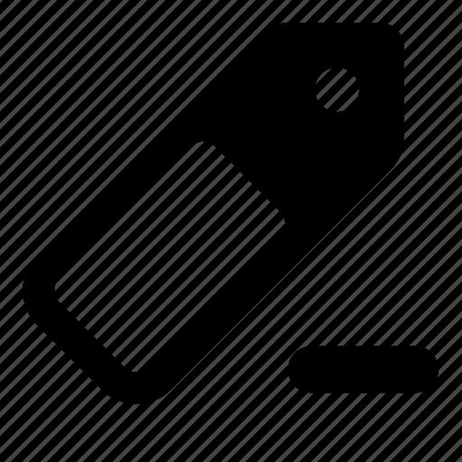 label, remove, tag icon