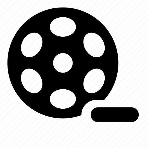 bobbin, film, reel, remove, video icon