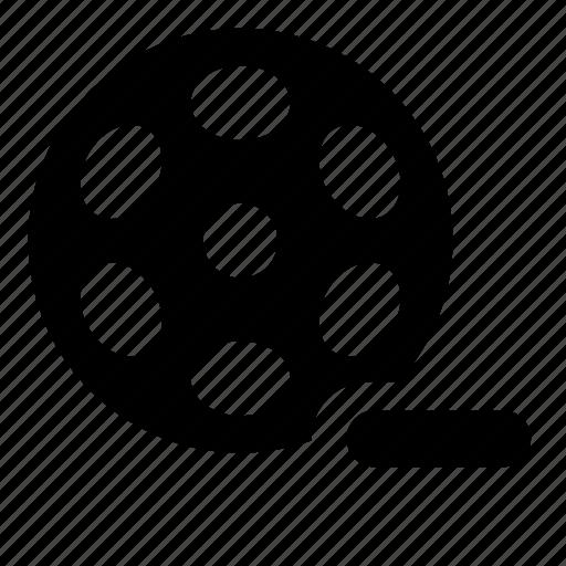 bobbin, film, reel, remove, video icon