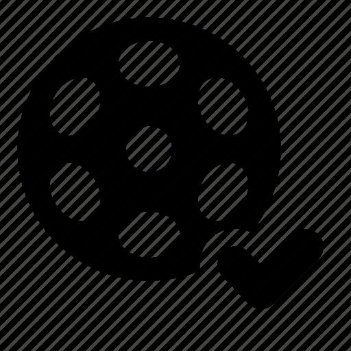 bobbin, film, reel, uploaded, video icon