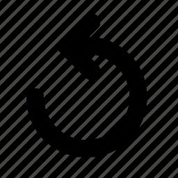 action, arrow, undo icon