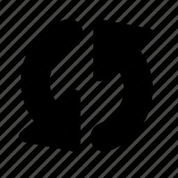 arrow, bold, refresh icon
