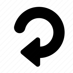 arrow, bold, cw, rotate icon