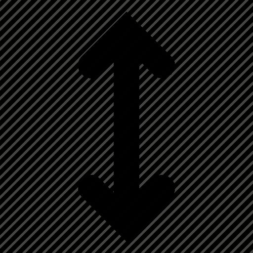 arrow, swap, vertical icon
