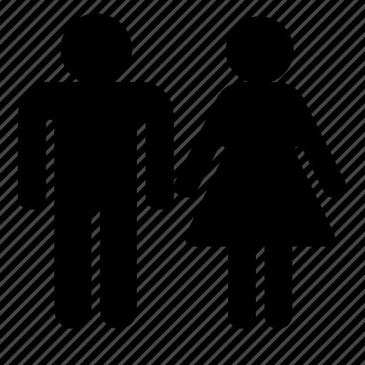 couple, man, marriage, toilet, woman icon
