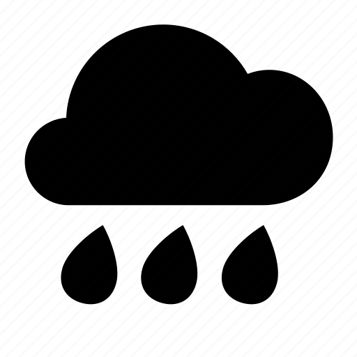 heavy, rain, weather icon