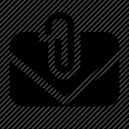 attach, clip, e-mail, mail, office icon