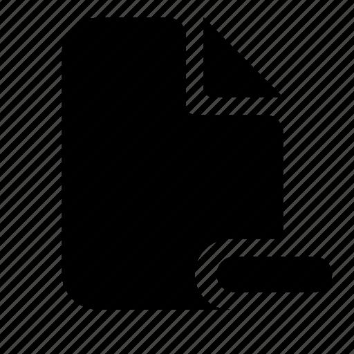 document, file, remove icon