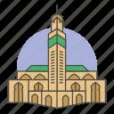 building, casablanca, landmark, morocco, mosque, muslim, prayer