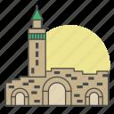 bab sharqi, building, damascus, entrance, gate, landmark, syria icon