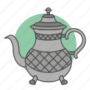 culture, kettle, meal, morocco, tea, teapot, tradition icon