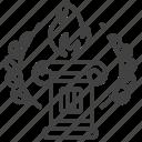 greece, greek symbol, laurel, pillar icon