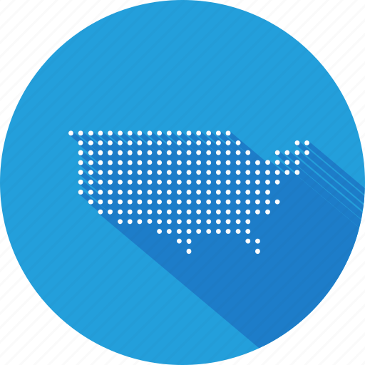 america, american, country, map, nation, states, united icon