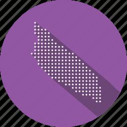 aruba, country, location, map, navigation icon