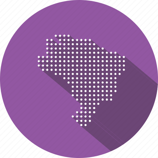 brazil, brazilian, country, location, map, nation, navigation icon