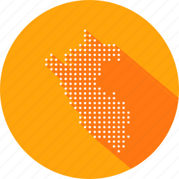 country, location, map, nation, navigation, peru icon