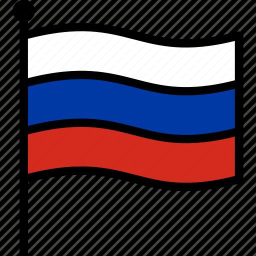 flag, russia, russian icon