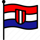 croatia, croatian, flag icon