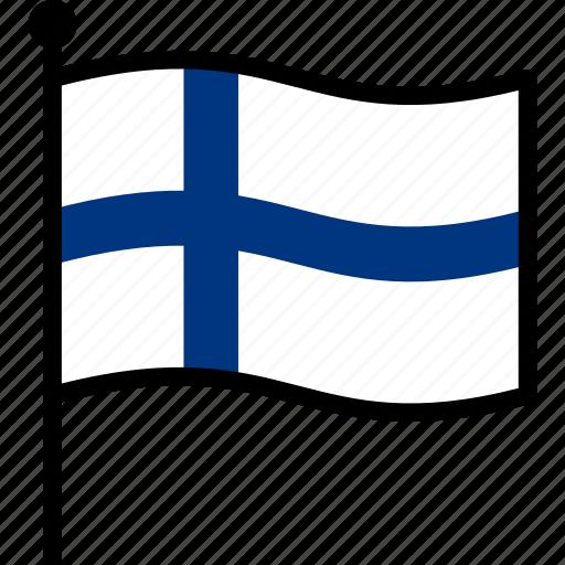 Finland, finnish, flag icon - Download on Iconfinder