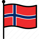 flag, norway, norwegian icon