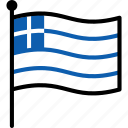 flag, greece, greek