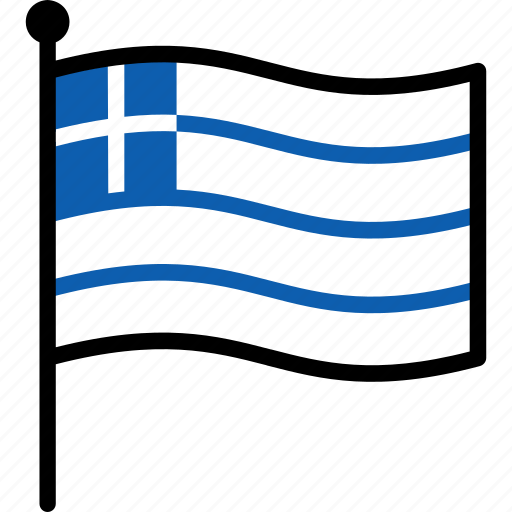 Flag, greece, greek icon - Download on Iconfinder