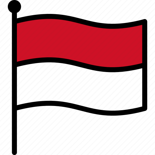 flag, indonesia, monaco icon