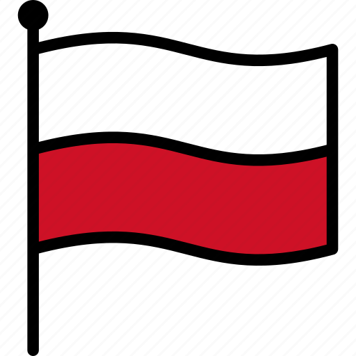 flag, poland, polish icon