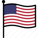 flag, us, usa icon