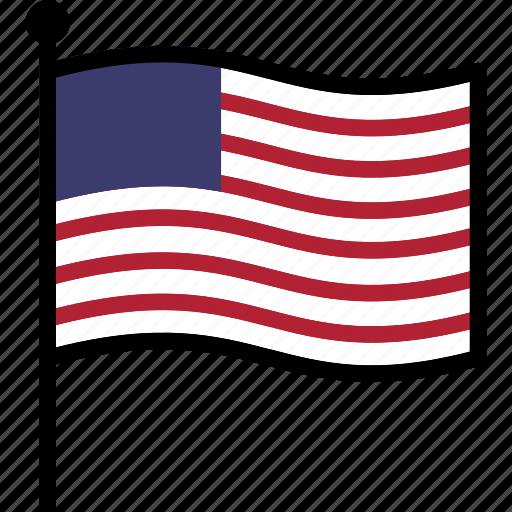 flag, us, usa icon