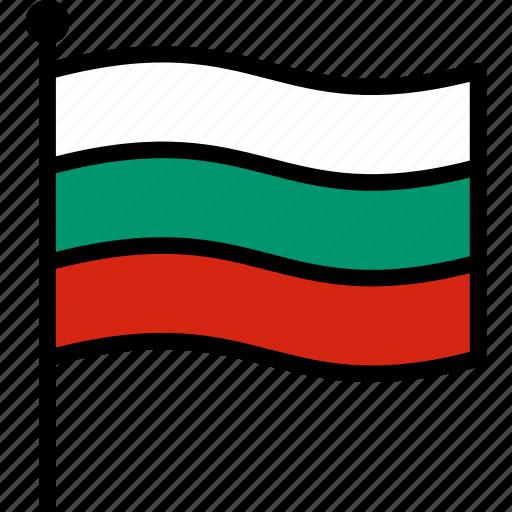 bulgaria, bulgarian, flag icon