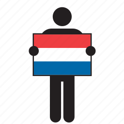 country, croatia, croatian, flag, holding, man icon