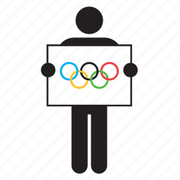 committee, flag, olympic, olympics, rings, sport, sports icon