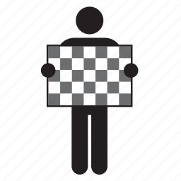 chequered, f1, finish, flag, race, start, winner icon