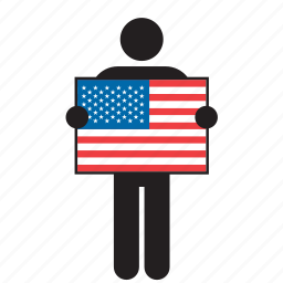 america, american, flag, the states, united states, us, usa icon