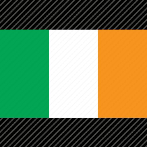 country, flag, ierland, ireland, nationality icon