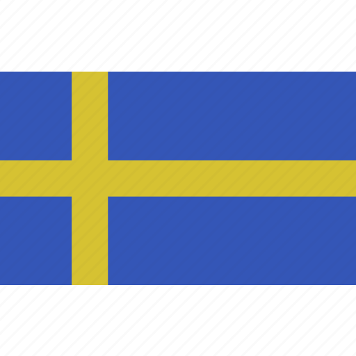 country, flag, nationality, sweden, zweden icon
