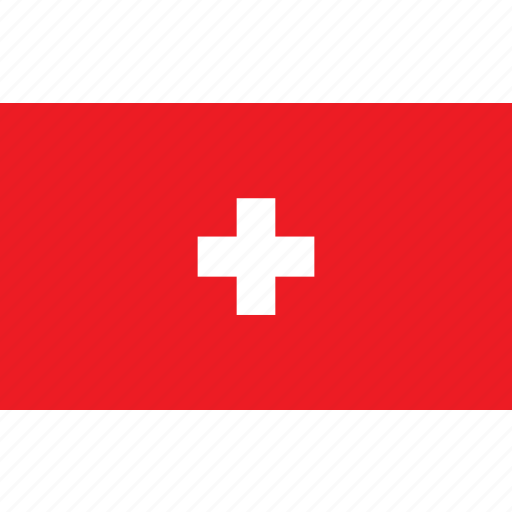 country, flag, nationality, swiss, switzerland, zwitserland icon