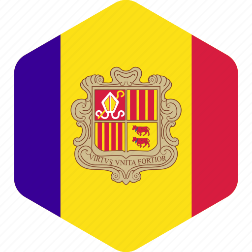 andorra, country, flag, flags, national, world icon