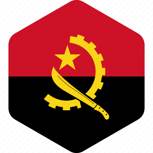 african, angola, country, flag, global, national, world icon