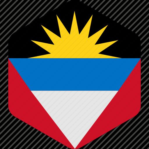 and, antigua, barbuda, country, flag, island icon