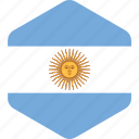 argentina, argentinian, country, flag, flags, south america, world icon