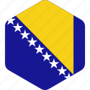 and, bosnia, country, flag, flags, herzegovina, national icon