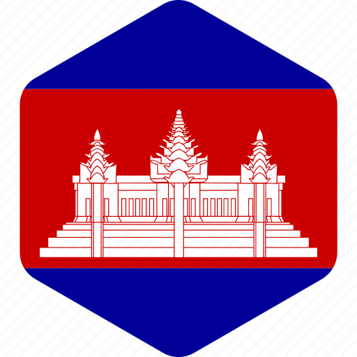 cambodia, cambodian, country, flag, flags, national icon