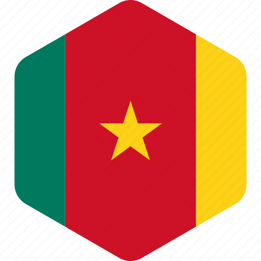cameroon, capital, country, flag, flags, guinea icon