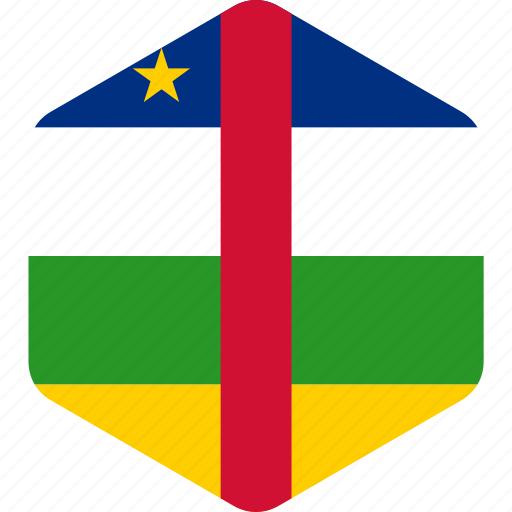 africa, african, central, country, flag, national, republic icon