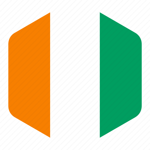 african, cote, country, d'ivoire, divoire, flag, national icon