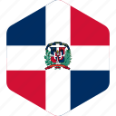 country, dominican, flag, global, national, republic, world icon